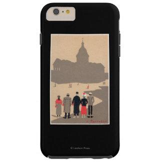 Art déco SceneParis, Francia de Le Pantheon Funda De iPhone 6 Plus Tough