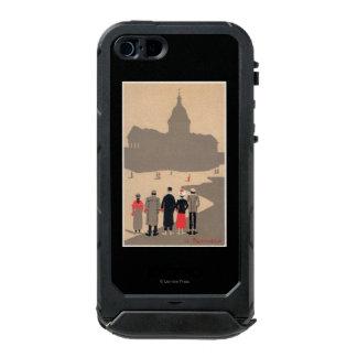 Art déco SceneParis, Francia de Le Pantheon Funda Para iPhone 5 Incipio ATLAS ID