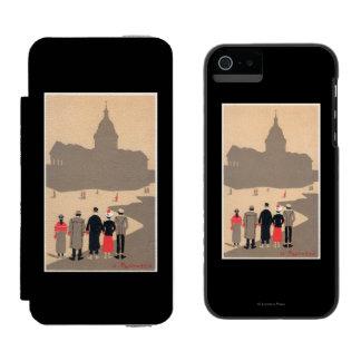 Art déco SceneParis, Francia de Le Pantheon Funda Cartera Para iPhone 5 Watson