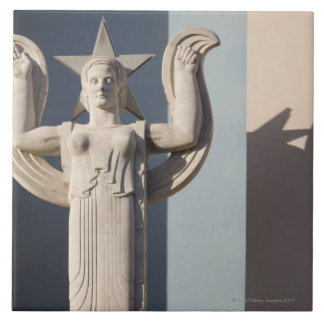 Art Deco Sculpture at the State Fair of Texas Large Square Tile