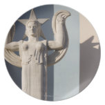 Art Deco Sculpture at the State Fair of Texas Dinner Plate