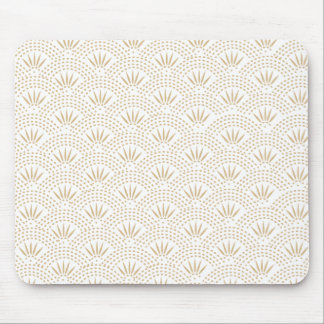 Art Deco Seigaiha Wave Pattern Mouse Pad