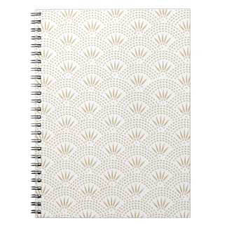 Art Deco Seigaiha Wave Pattern Note Books