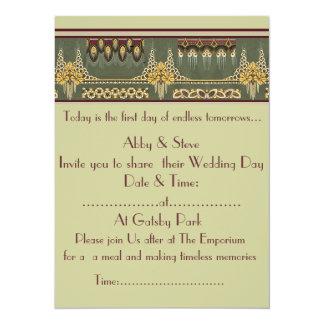 Art Deco Series: Wedding Stationary, Invitation 14 Cm X 19 Cm Invitation Card