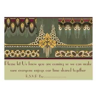Art Deco Series: Wedding Stationary, R.S.V.P Cards