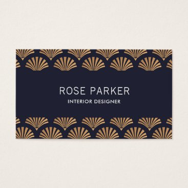 Professional Business Art Deco Shell Pattern Business Card