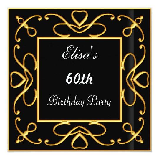 Art Deco Simple Birthday Party Invitation Black