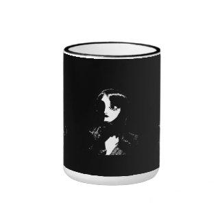 Art Deco - Sin City Style Woman - Black & White Mug