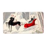 Art Deco sleigh ride Label