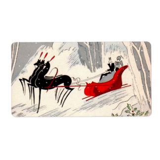 Art Deco sleigh ride Label