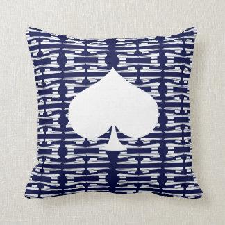 "Art Deco Spades Suit Throw Pillow 16"" x 16"""