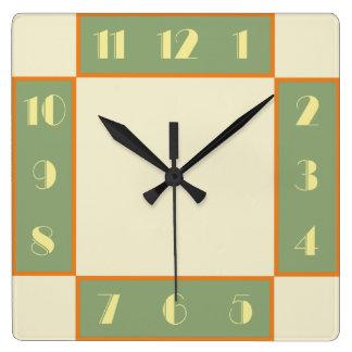 Art Deco Square Clock