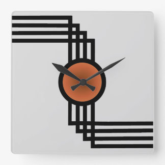 Wall Clock Art art deco wall clocks | zazzle