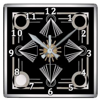 Art Deco Square Wall Clock