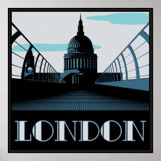 Art Deco St Pauls, London Poster