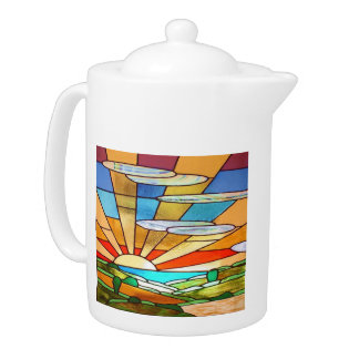Art Deco Stained Glass 1 Teapot