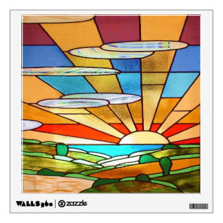 Art Deco Stained Glass 1 Wall Skins
