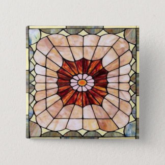 Art Deco Stained Glass 2 Button