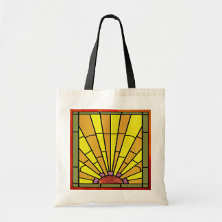 Art Deco Stained Glass 3 Tote Bag