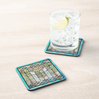 Art Deco Stained Glass 4 Beverage Coaster