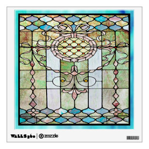 Art Deco Stained Glass 4 Wall Decal & Deco Stained Glass Wall Decals u0026 Wall Stickers | Zazzle