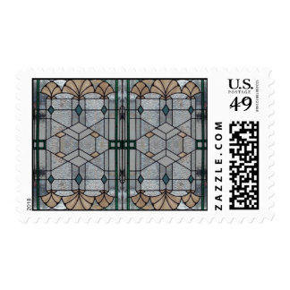 Art Deco Stained Glass Postage Stamp