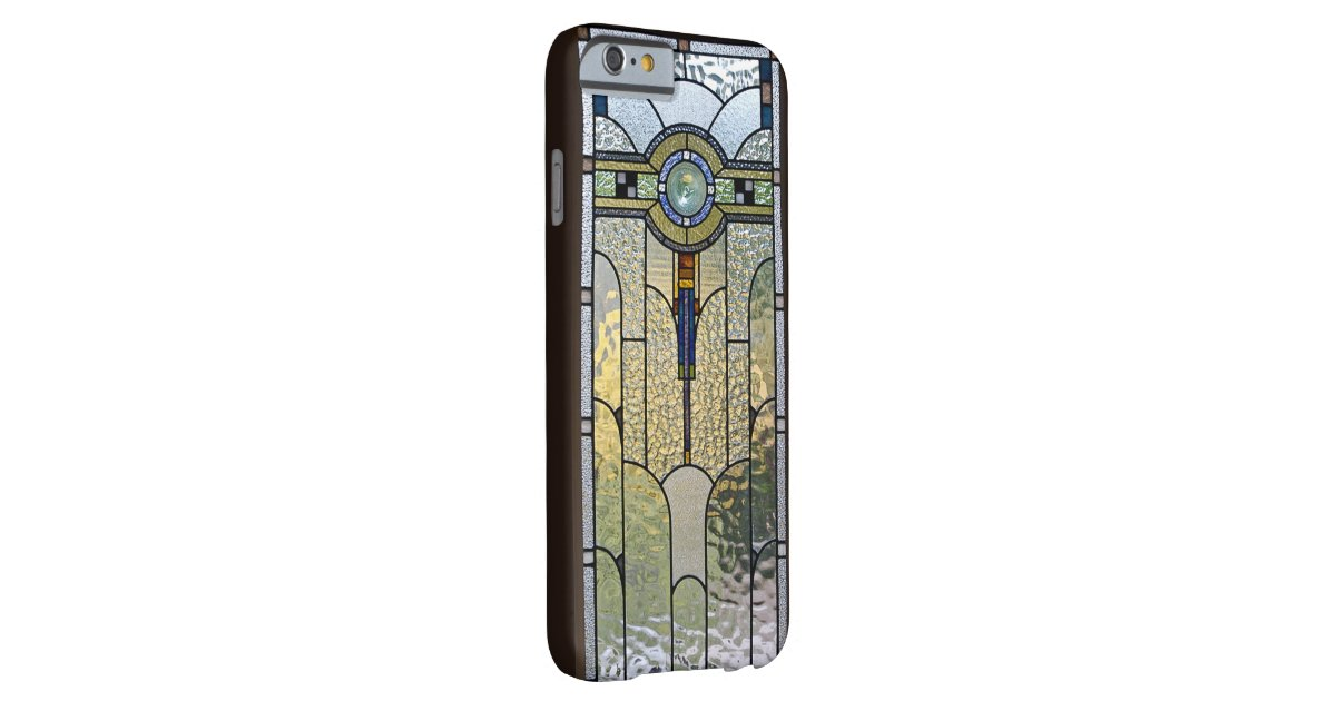 Art deco stained glass window iphone 6 case zazzle for Art deco glass windows