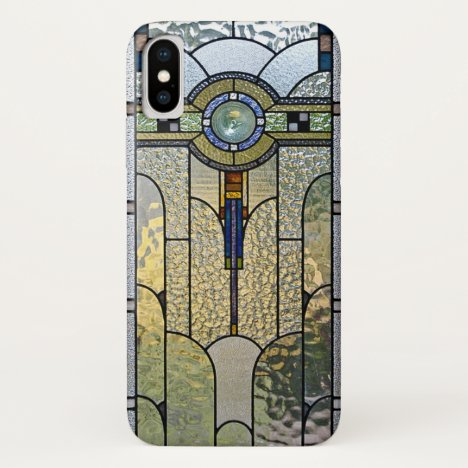 Art Deco Stained Glass Window iPhone X case