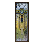 art deco stained glass window poster | FROM 8.99