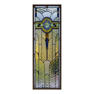art deco stained glass window poster FROM 8 99