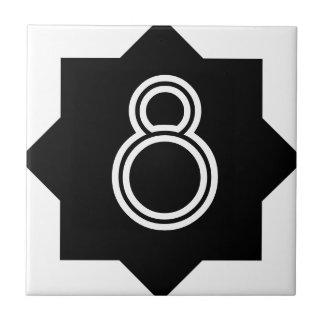 Art Deco Star Number Tile