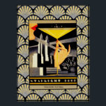 """Art Deco Starlight Roof Poster<br><div class=""""desc"""">This is my latest creation. I have cleared the image of the starlight roof to make it clearer and added an art deco background to make this poster. This would make  great print that could be framed and use for your home. Or you could use it for crafting.</div>"""
