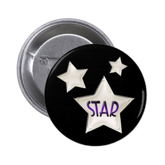 Art Deco Stars Pinback Button