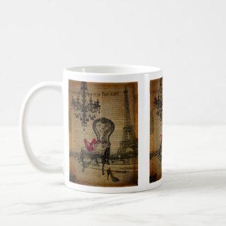 art deco stiletto paris eiffel tower coffee mug