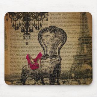 art deco stiletto paris eiffel tower mouse pad