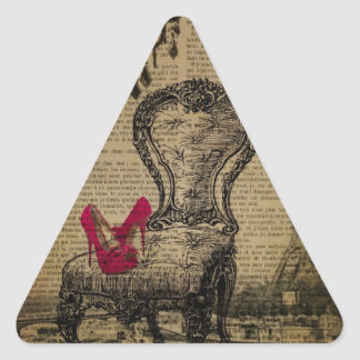 art deco stiletto paris eiffel tower triangle sticker