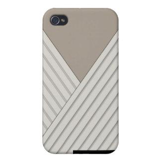 Art Deco Stripe in Cream and Ecru iPhone4 iPhone 4/4S Cover