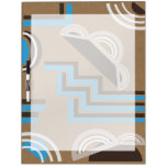 Art Deco style Abstract design Dry Erase White Board