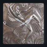 """Art Deco Style Acrylic Wall Clock<br><div class=""""desc"""">Based on decorative 1930's art deco architectural elements.  The clock  for the Deco enthusiast. 2 sizes: 8"""" diameter (medium) or 10.75"""" diameter (large). Material: Grade-A acrylic.</div>"""