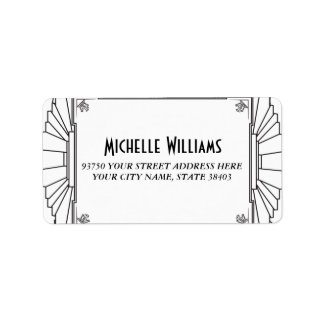 Art Deco Style Address Labels