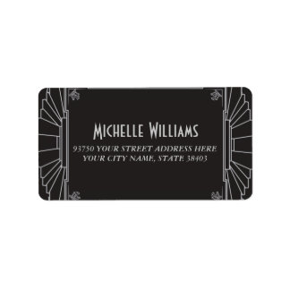 Art Deco Style Address Labels (Silver)