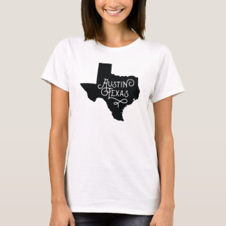 Art Deco Style Austin Texas T-Shirt - Black