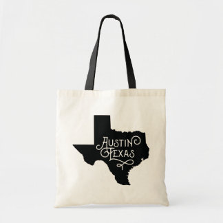 Art Deco Style Austin Texas Tote Bag - Black
