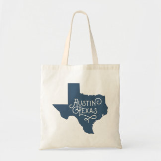 Art Deco Style Austin Texas Tote Bag - Blue