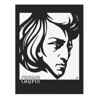 Art Deco style Chopin Postcard
