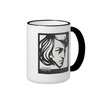 Art Deco style Chopin Ringer Mug