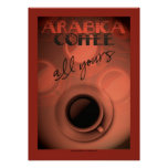 Art Deco style coffee poster