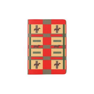 Art Deco Style Dachshund Design on Passport Cover