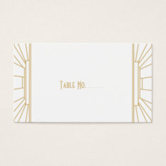 Art Deco Style Guest Escort Cards at Zazzle