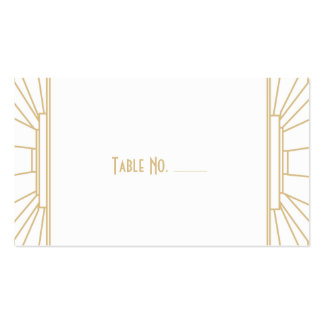 Art Deco Style Guest Escort Cards Double-Sided Standard Business Cards (Pack Of 100)